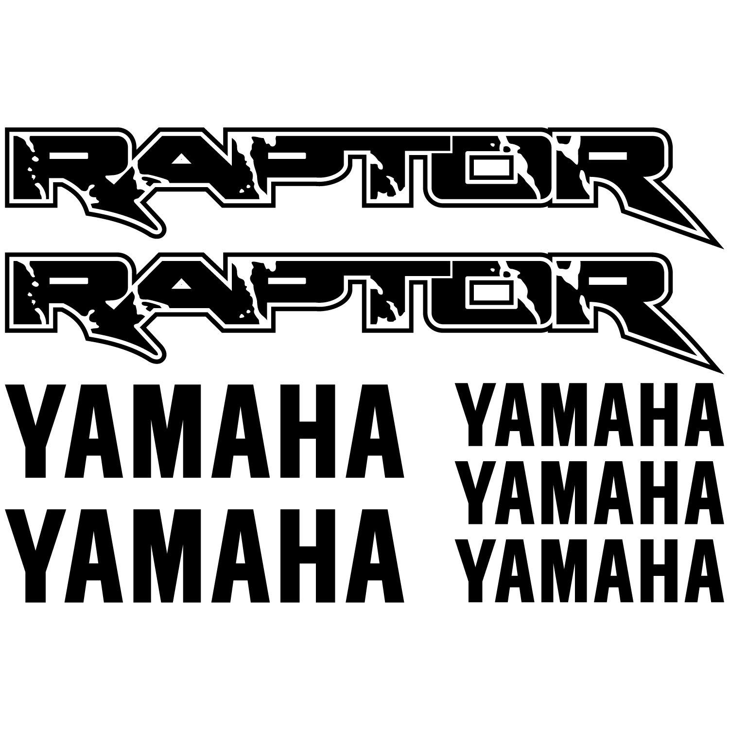Wallstickers Folies Yamaha Raptor Decal Stickers Kit