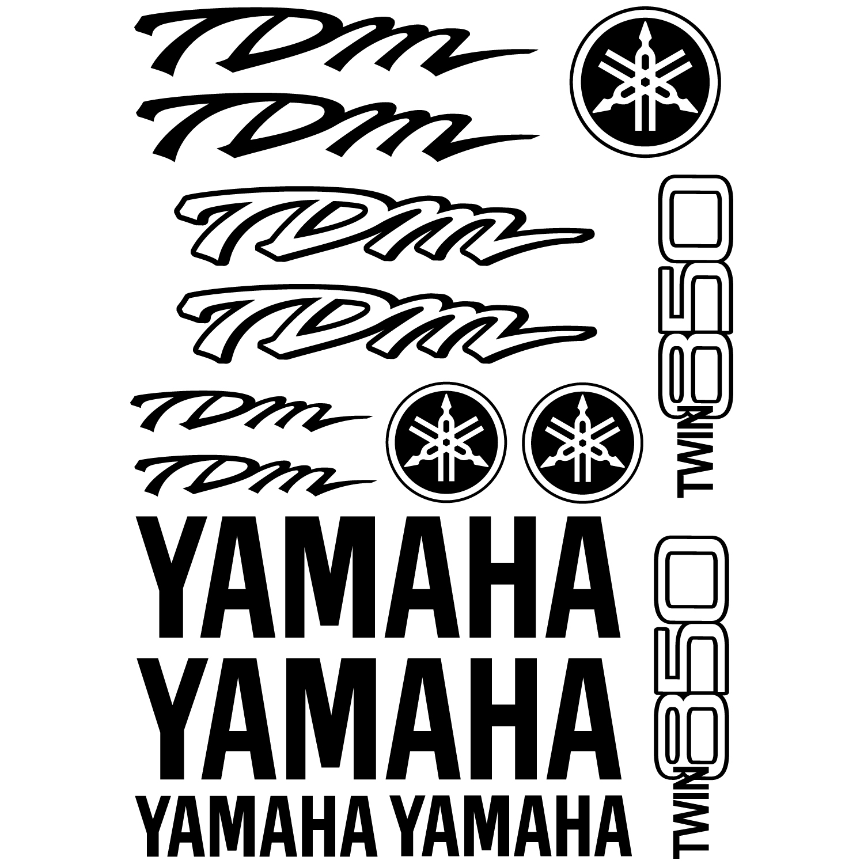 wallstickers folies   yamaha tdm twin 850 decal stickers kit