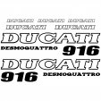Ducati 916 desmo Decal Stickers kit