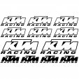 ktm racing Decal Stickers kit