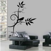 Branch with Bird Wall Stickers