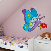 Butterfly and Flower Wall Stickers