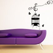 Cage Butterflies Wall Stickers