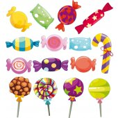 Candy Set Wall Stickers