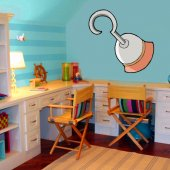 Pirate Hook Wall Stickers