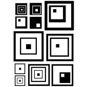Square Set Wall Stickers